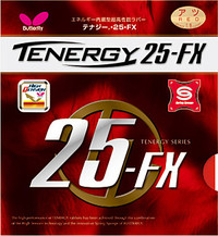 Butterfly Tenergy 25 FX ping pong rubber