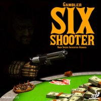Gambler Six Shooter ping pong rubber